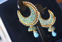 Indian Jewelry / Indian ethnic jewellery .... Earrings necklace jhumka kadas bangles