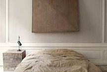 bedroom / bedrooms and closets, minimal and elegant bedding