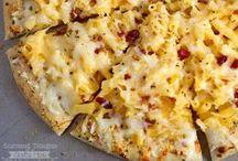 pizza / pizza, pizza recipes, pizza ideas, flatbread recipes, flat bread ideas, margarita pizza, veggie pizza, hawaiian pizza, white pizza, barbecue pizza, meat lovers pizza, pizza dough recipe, gluten free pizza, paleo pizza / by Mama Loves Food