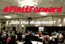 #PinItForward / Compounded Generosity through the Power of Community; shine your light on a friend, blogger, superstar cause or relevant post.  Harness the power of Pinterest and goodwill; join the #PinItForward Movement!