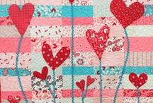 Quilting - hearts