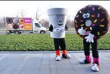 Cuppy and Sprinkles / Maskotki Dunkin' Donuts w akcji! :)