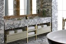 B A T H R O O M / Most of you that know me know my love for bathrooms!  I worked in a showroom studio for 8 years designing bathrooms