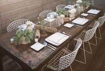 T A B L E S C A P E S / A nice collection of decorative plates and tablescapes great for any company!