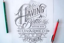 art // hand lettering / • hand lettering •