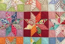 Textiles: patched / patchwork, quilting, applique +