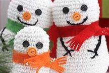 Crochet Christmas / ornaments for tree, garland, Christmas / by Christina Budd