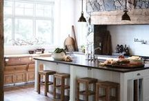 Rustic Kitchen / Durable, updated, upcycled style for western farmhouses. / by Alexandra Vaughn