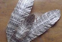 Newspapers/Sheet Music/Misc. Paper recycled/upcycled/repurposed / Newspapers, sheet music, junk mail and misc. paper recycled/upcycled/repurposed / by Christina Budd