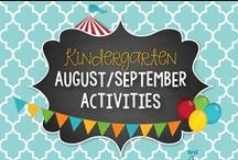 August/September Kinder Activities & Centers