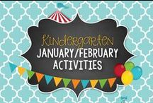 January/February Kinder Activities and Centers