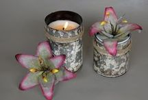Candles / Artisan Handmade Hand-poured & Hand-painted Candles!