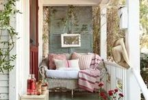 Patio, porch and outdoor decor / by Melanie Warner Spencer