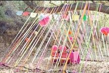 Buntings and Ribbons / #bunting and #ribbon #obesssion #party #eventstyling #styling