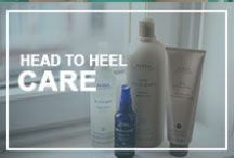 Head to Heel Care / Aveda products are naturally derived from plant and flower essences. Each of our locations has the full product line available to care for you from your head to your heels.