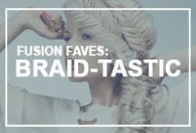 Fusion Faves: Braid-tastic / Braids, pleats, or plaits—whatever you call them, we're absolutely loving all things twisted in hair!