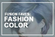 Fusion Faves: Fashion Colors / Fashion hair color to dye for! What's your favorite? We can help you achieve any color in the rainbow.