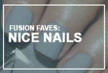 Fusion Faves: Nice Nails! / With bottles of nail polish gradually taking over the number of lipstick tubes in the average American woman's bathroom, the possibilities for amazing manicures are endless, no matter how many times you've reached for that same shade of bright red or soft pink polish.