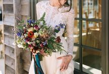 Fall Weddings / Unique Ideas For Your Fall Time Weddings Featuring Bridal Bouquets, Bridesmaids Dresses, Favors And More