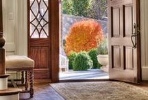 welcome home! / front hall, foyer, front hall vignettes, front staircases, mudrooms / by Cindy Willit