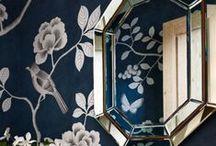 Feature walls / wallpaper, stencils, etc