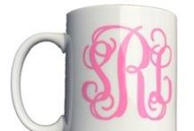 MONOGRAM EVERYTHING!!! / We believe you should monogram everything!!!  We also offer a wide selection of gifts including sorority options! Custom Gifts & Accessories!  http://shopbluetique.com/shop/monogram-it/monogram-it-all