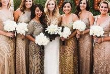 Bridal Parties / Bridal Party Fashion, Photos, Colors And Gift Ideas. All The Little Details We Just Love!