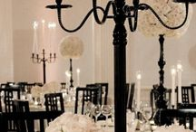 Black and White Weddings / Black And White Is Our All Time Favorite Wedding And Party Theme Combination. Add A Splash Of Gold Or Color To Use This Palette For Any Event, Any Time Of Year.