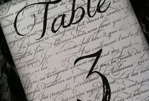 Table Numbers / Creative Ideas To Help Guests Find Their Table Numbers At Weddings, Showers, Birthdays And Special Celebrations.