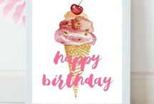 Party Printables / A little DIY creative inspiration! Printables are an inexpensive way to decorate for your celebration!