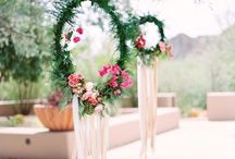 Boho Chic / We love the natural elements and florals for a Boho event