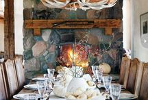 Lifestyle || Vail, French Alpine Style / Log cabins, plaids, French antiques, antler chandeliers, Gorsuch