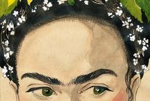 . f r i d a k a h l o . / Frida Kahlo de Rivera Mexican July 6, 1907 – July 13, 1954 Painter Who is best known for her self-portraits.