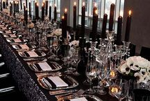 BLACK COLOR COMBO IDEAS! / #wedding inspiration color combinations with black