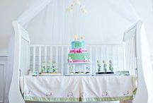 Lullaby Baby Shower / How to throw a lullaby baby shower, including invitations, activities, decorations, and dessert table ideas.