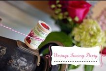 Vintage Sewing Party / Inspiration and DIY tutorials on how to throw a vintage sewing birthday party.