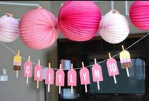 Popsicle Party / How to throw a popsicle birthday party, including invitations, activities, decorations, and dessert table ideas.