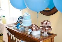 Travel Themed Baby Shower / How to throw a travel themed baby shower, including invitations, activities, decorations, and dessert table ideas.