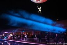 Aerial Perfomers / Talents & Productions is an international talent agency and show agency specialized in all type of circus, magic, variety acts and shows for your events, TV shows, circuses, theme parks, ... We have a wide range of artists: acrobats, jugglers, comedy acts, magicians, german wheel acts, chinese pole acts, close-up magician, rola-bola, handbalance acts, trampoline, teeterboard, illusionists.   Talents et Productions est une agence artistique et agence de spectacle basée à Monte-Carlo (Monaco).