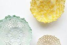 handmade - lace bowls