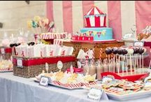 Circus Birthday Party / How to throw a circus theme birthday party, including invitations, activities, decorations, and dessert table ideas.