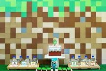 Minecraft Party / How to throw a Minecraft birthday party, including invitations, activities, decorations, and dessert table ideas.