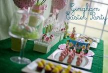 Easter Party / How to throw an Easter party, including invitations, activities, decorations, and dessert table ideas.