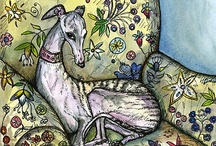 Fave Dog Artist UK / Elle Wilson is an amazing artist, living in England. She stuns me with her capturing dogs' eyes and characters. I have many pieces on my walls. The greyhounds eyes are soulful and magical. She does more than just dogs. Please support your local artists. They need us to buy. She rocks the dog world. On Ebay and Etsy and own website. Gives a LOT to dog charities, God love her. Buy from Elle! woof woof xox / by L *freebie* Bailey