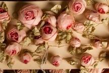 """Rosas"""" embroidery  and  ribbonwork',  trabajos  en  cintas   ,  encajes  etc"""