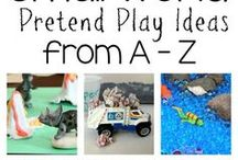 Small World Play for Kids / Creating miniature and small worlds for creative, hands on pretend play for kids!
