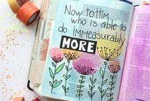 SCRIPTURE JOURNAL / Inspiration for scripture art journaling. Bible Journaling, Book of Mormon, Doctrine & Covenants
