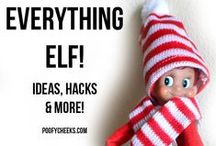 Elf on the Shelf / Elf on the Shelf Ideas, Printables and MORE! / by Poofy Cheeks