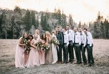 Wedding Party / Make your wedding party look just as good as you! Style for your groomsmen, bridesmaids, and more!