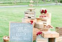 Rustic Wedding / Rustic wedding inspiration! Full of barns, mason jars, lace, and burlap!